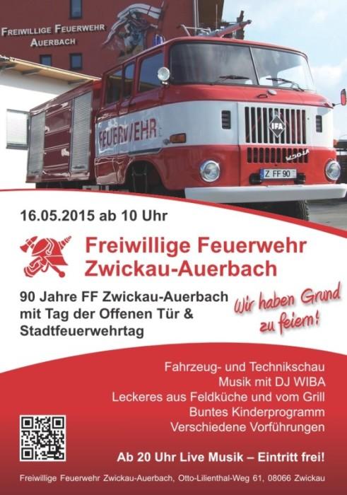 Flyer 90 Jahre FF Zwickau-Auerbach
